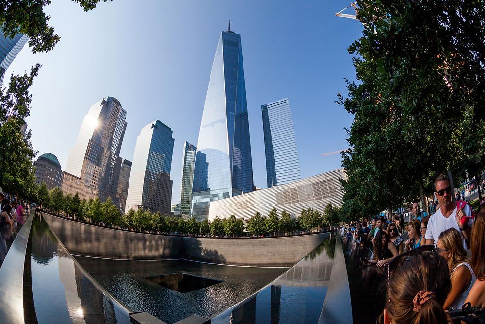 Ground Zero waterfall memorial