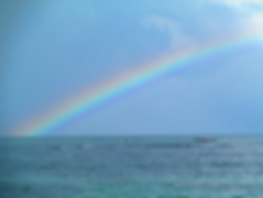 Isla Carenero, Bocas Town, Bocas del Toro, Panama, rainbow, arcoiris