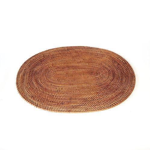 Rattan place-mat oval