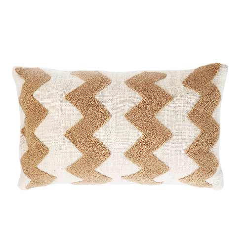 Tufted Zigzag Detail Pillow Case