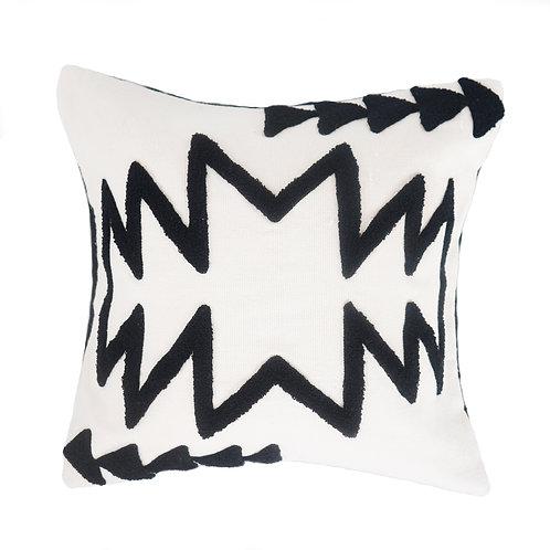 Monochrome Zigzag Embroidered
