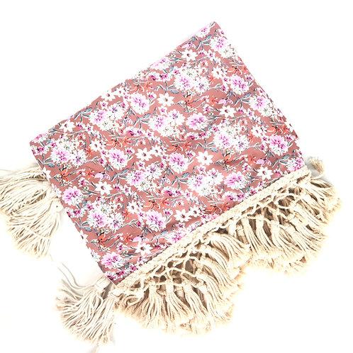 Flowers Macrame Throw Blanket