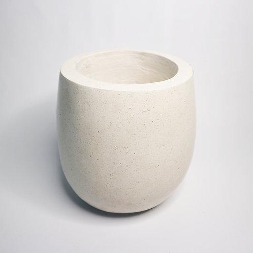 White Pot In Terrazzo