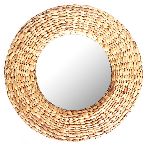 Handwoven Water Hyacinth Mirror