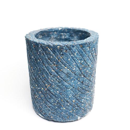 Beautiful Sea Blue Terrazzo Pot
