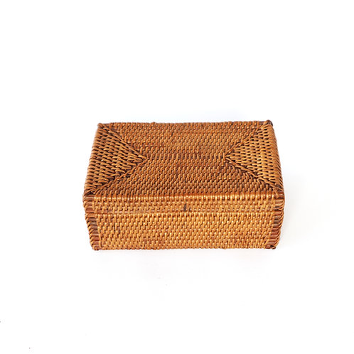Rattan rectangle box