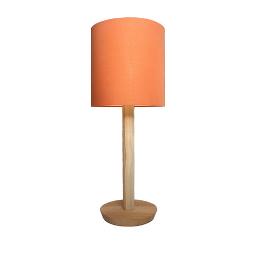 Pilar Table Lamp With Cotton Shade