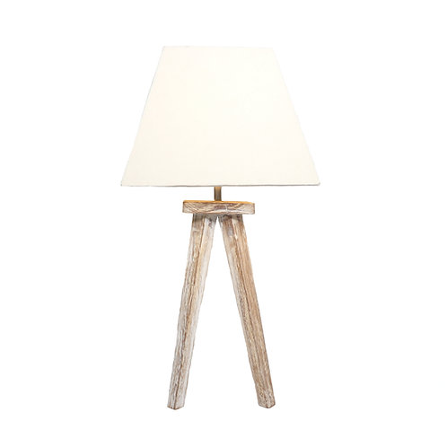 Tripod Table Lamp With Cotton Shade