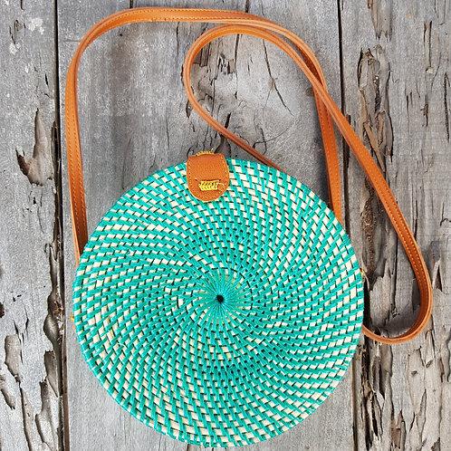 Rattan Bag Natural in tosca color