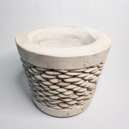 Terrazzo Pot With Stone Stripe