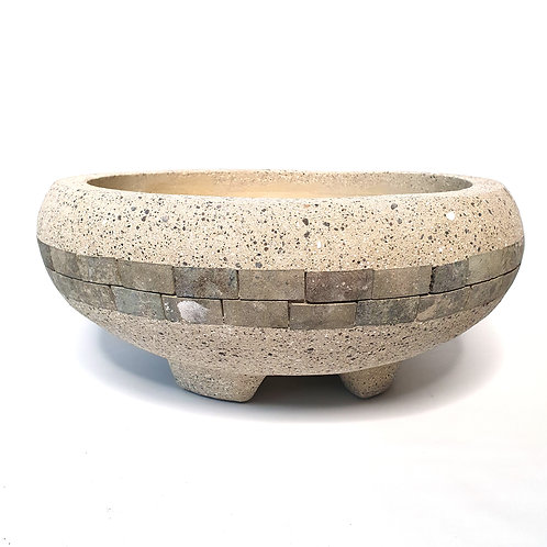 Terazzo Bowl With Stripe