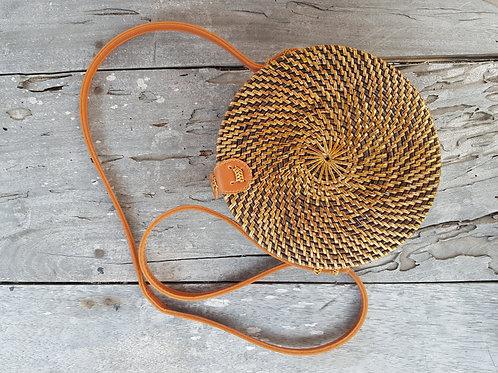 Rattan Bag Natural dark and simple