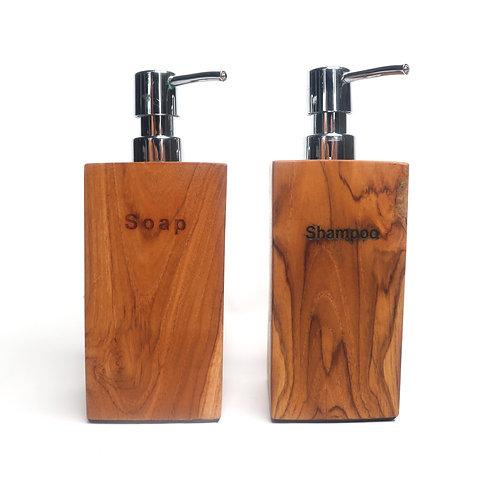 Wooden Dispenser Pump Bottle for Bathroom Vanity