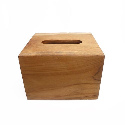 Square Wooden Tissue Box Cover