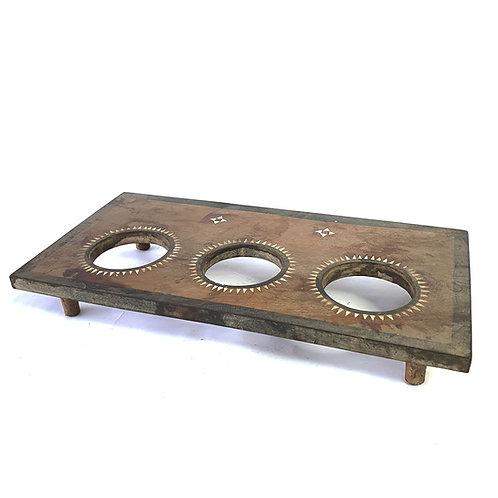Wooden glass holder