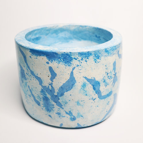 Terrazzo Pot in Perfect Blue Ocean