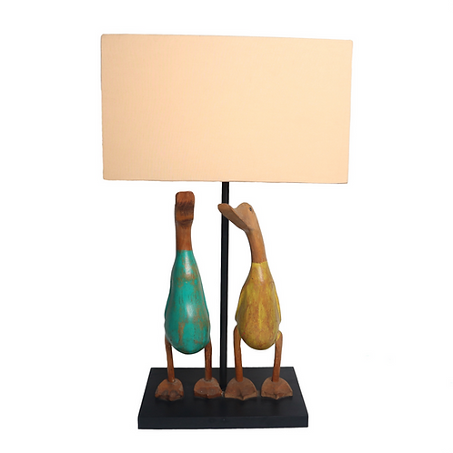 Duck Set Table Lamp With Cotton Shade