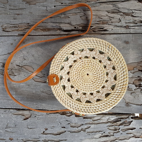 Rattan Bag Natural flower weaving
