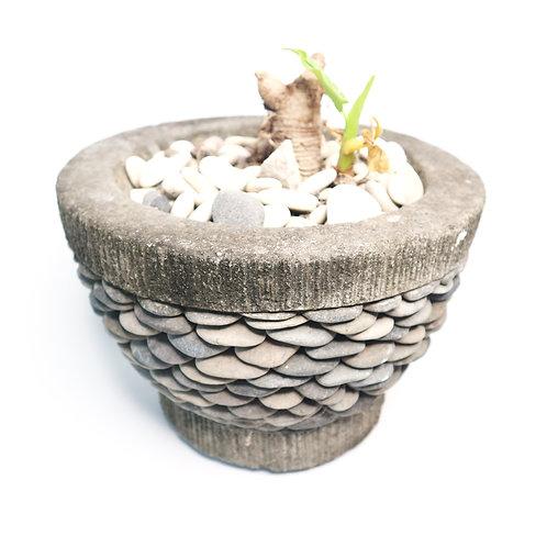 Local Grey Stone Pot