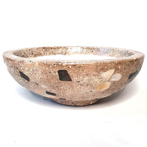 Golden Brown Terrazzo Bowl