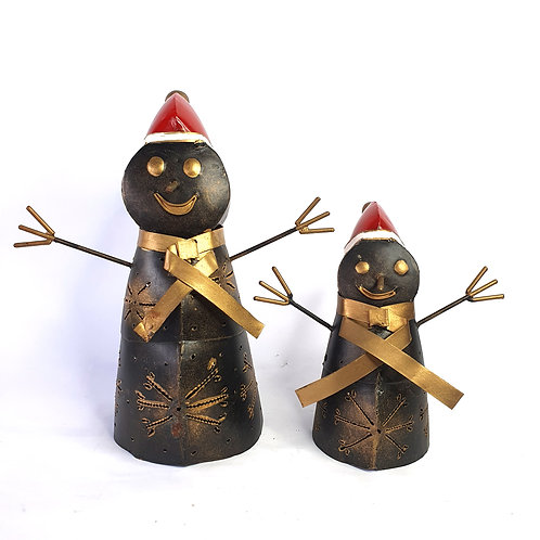 Candle Holder Snowman Christmast