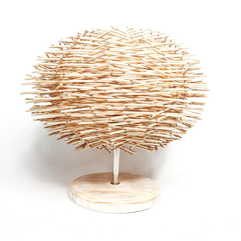 Durian Table Lamp With High Round Base