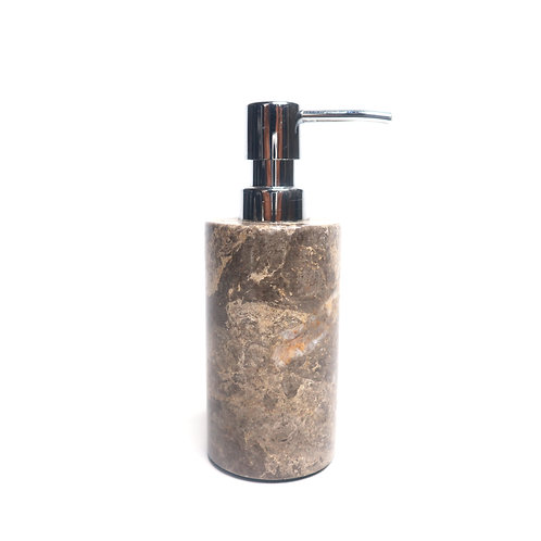 Brown Marble Dispenser Pump Bottle for Bathroom Vanity