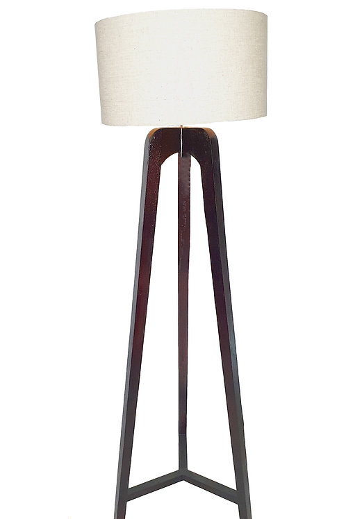 Dark Brown Tripod Standing Lamp