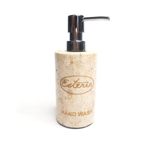 Dispenser Pump Bottle for Bathroom Vanity with Marble Motif