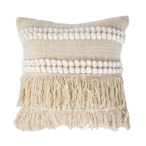Natural Shell and Fringing Pillow Case