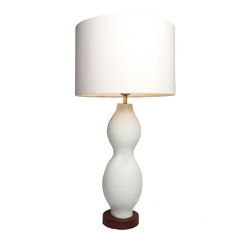 Silulit Fiber glass Table Lamp With Cotton Shade