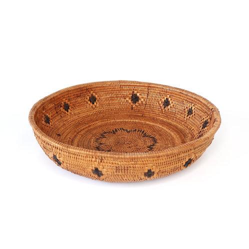 Rattan bowl with ornaments(big)
