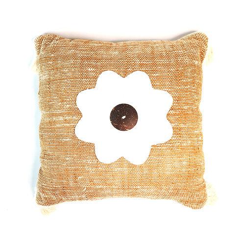 White Daisy Flower Pillow Case