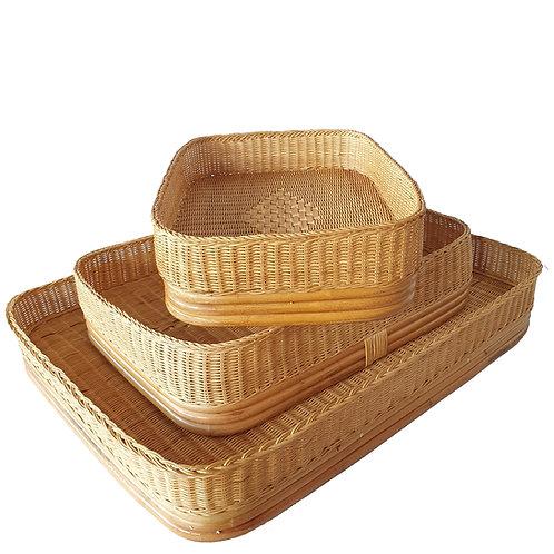 Floating tray rectangle set of 3