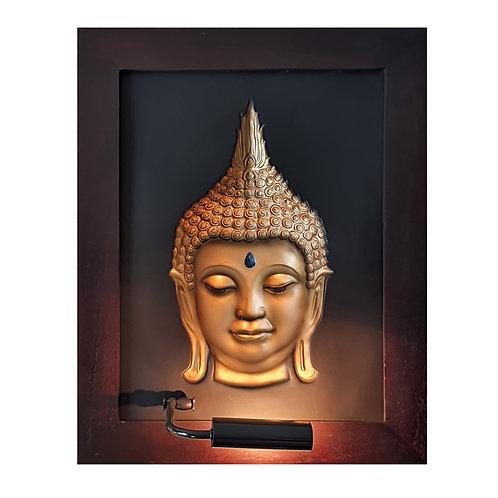 Golden Thai Head Budha 3D Wall Art Lamp