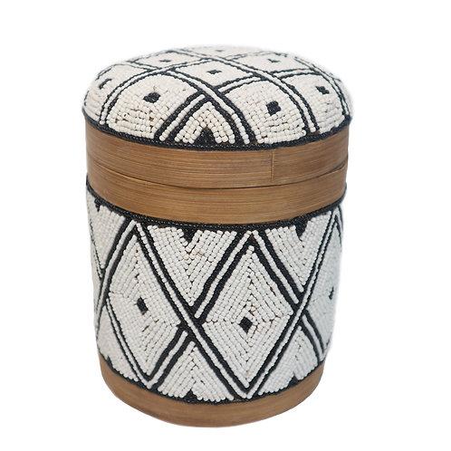Box With Diamond Motif Black and White