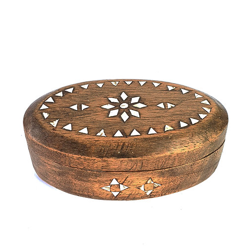 Small Wood Boxes in oval shaped
