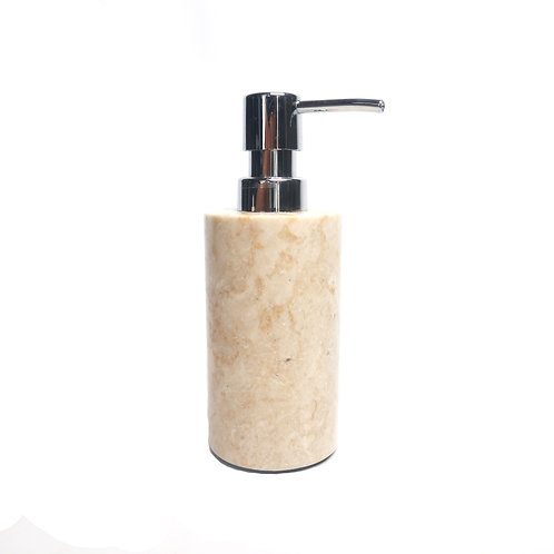 White Marble Dispenser Pump Bottle for Bathroom Vanity