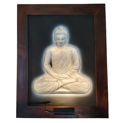 White Budha Full Body 3D Wall Art Lamp
