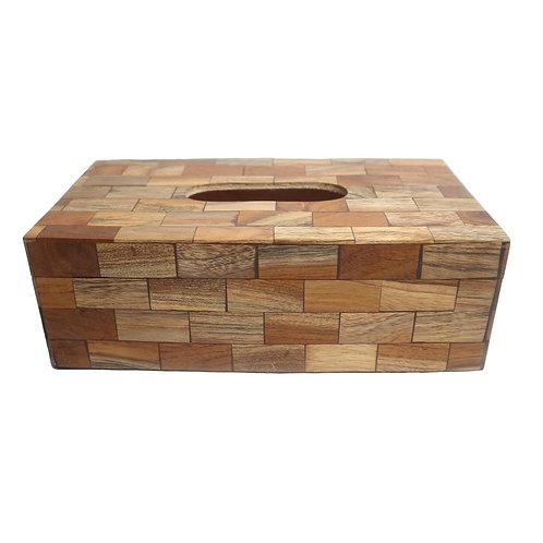 Aesthetic Rectangular Wooden Tissue Box Cover