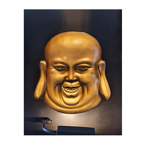 Golden Lightning Budha 3D Wall Art Lamp