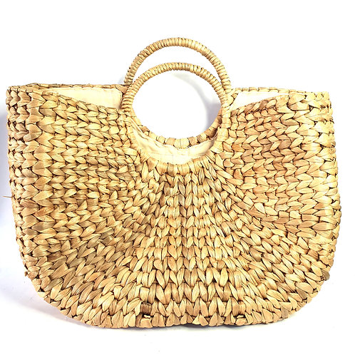 Water Hyacinth bag with soft fabric