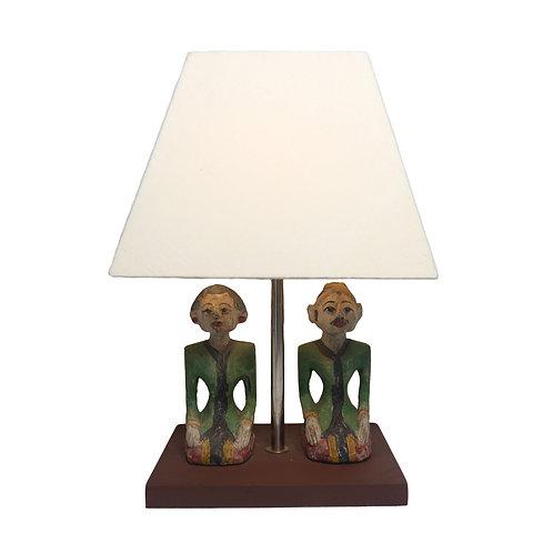 Loro Blonyo Set Table Lamp With Cotton Shade
