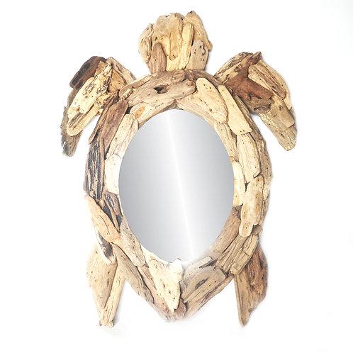 Turtle Mirror Driftwood