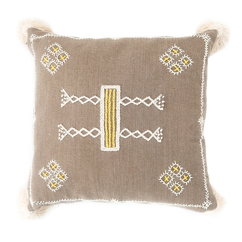 Brown Ratih Hand Embroidered