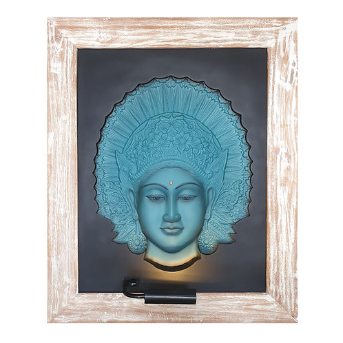 Blue Legong 3D Wall Art Lamp
