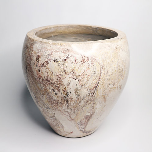 Terrazzo Plant Pot With Marble Motif