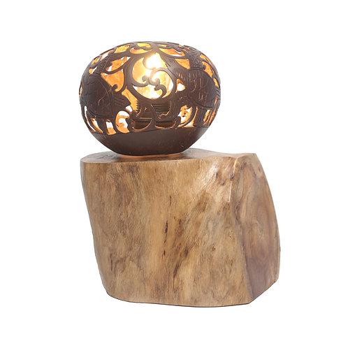 Coconut Sculpture Table Lamp