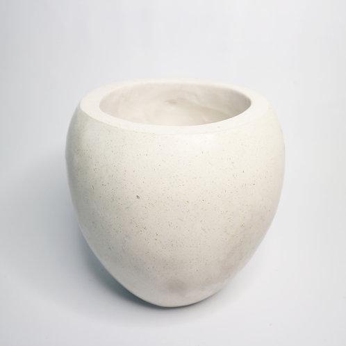 Hand Made Terrazzo Pot in White
