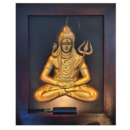 Golden Siva 3D Wall Art Lamp